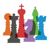 Set of chess figures. Royalty Free Stock Photos