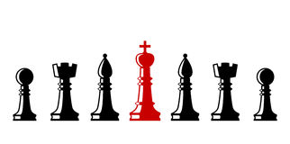 Set of chess figures. Leadership concept. Set of chess figures. Chess elements collection. Flat style chess figures isolated. Leadership concept. Team with Royalty Free Stock Photography
