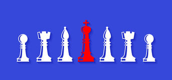 Set of chess figures. Leadership concept. Set of chess figures. Chess elements collection. Flat style chess figures isolated. Leadership concept. Team with Royalty Free Stock Images
