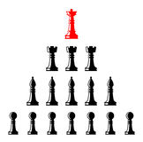 Set of chess figures. Leadership concept. Set of chess figures. Chess elements collection. Flat style chess figures isolated. Leadership concept. Team with Stock Photography