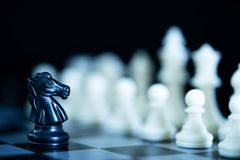 Close up chess pieces on chessboard Stock Photos