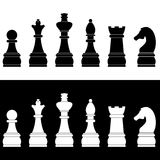 Set of chess icons. Vector illustration Stock Photo