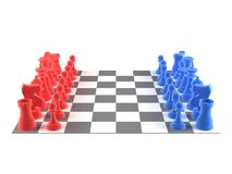 A set of chess pieces Stock Image