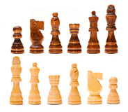 Set of chess pieces. Isolated on white background Stock Photos