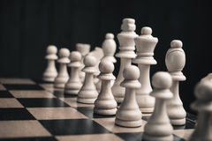 Set of chess pieces Stock Images