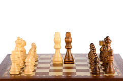 Set of chess pieces on the board Stock Image