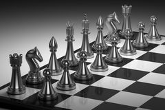 A set of chess pieces on a chess board. Chess game Stock Photography