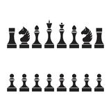 Set of chess pieces (chessmen),  Stock Photography
