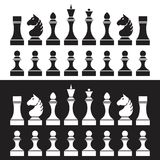 Set of chess pieces (chessmen),  Royalty Free Stock Image