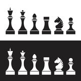 Set of chess pieces (chessmen),  Stock Photos