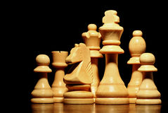 Set of chess pieces Royalty Free Stock Photo