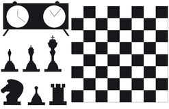 Set of  chess player. Set of accessories to game in chess Royalty Free Stock Image