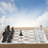 Set of chess ready to play Royalty Free Stock Images