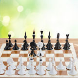 Set of chess ready to play Stock Photo