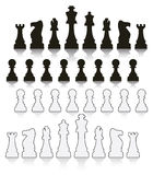Set of chess symbols Stock Photography
