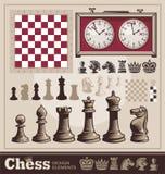 Set of chess vector design elements Stock Photo