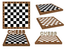 Set of chessboards Stock Photography