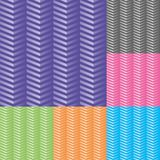 Set of chevron vector seamless pattern. royalty free illustration