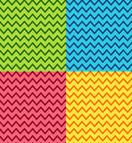 Set of chevrons patterns Royalty Free Stock Photography