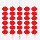 Set Chińscy Czerwoni lampiony Obraz Stock