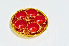 Set Chińskie Herbaciane filiżanki dla ono Modli się Chińskiego ducha domu Obraz Stock
