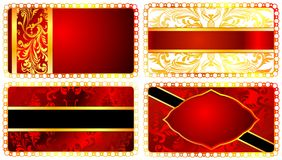 Set chic templates for greeting cards. 03 (Vector) Royalty Free Stock Images