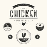 Set of chicken farm  and market labels Stock Photo