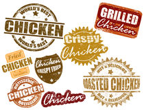 Set of chicken stamp Stock Image
