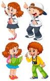 Set of chidren character. Illustration royalty free illustration