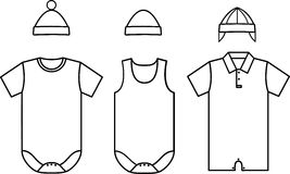 Set of child baby wear. Vector. Illustration Royalty Free Stock Photos