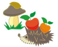 Set of child colored applique Royalty Free Stock Image