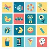 Set of  child flat icon. Stock Images