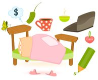 Set of child objects isolated Royalty Free Stock Photography