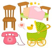 Set of child objects isolated Stock Photo