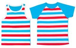 Set of child shirts isolated on white background Royalty Free Stock Photography