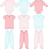 Set of child wear Stock Images