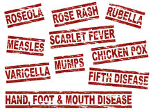 Set childhood diseases. Set of childhood diseases. All on white background Royalty Free Stock Photos