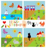 Set of childish drawing elements. Set of childish drawing сгеу elements Royalty Free Stock Image