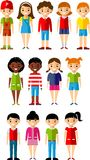 Set of children boys and girls icons Royalty Free Stock Photos