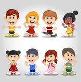 Set of children cartoon Stock Photos