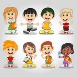 Set of children cartoon Royalty Free Stock Photography