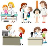 A Set of Children Check Up. Illustration vector illustration
