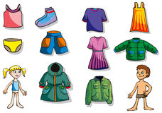 Set of children  clothes Stock Photos