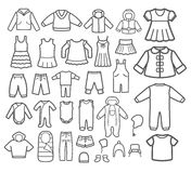Set of Children clothing. Royalty Free Stock Photo