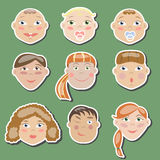 The set of children of different ages Stock Images