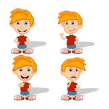 Set of children give a smile and sad vector illustration Stock Photography