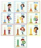 Set of children hilding number. Illustration vector illustration