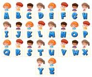Set of children holding letters. Illustration vector illustration