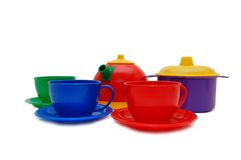 Set of children kitchen ware Royalty Free Stock Image