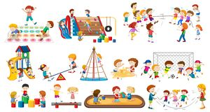 Set of children playing. Illustration vector illustration